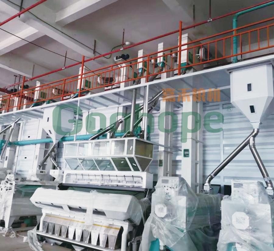 海南澄迈能国米业300吨大米生产线